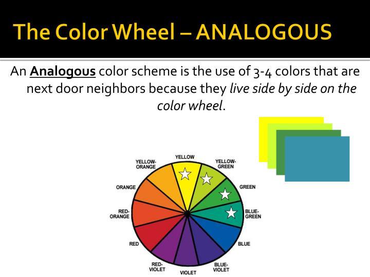 The Color Wheel – ANALOGOUS