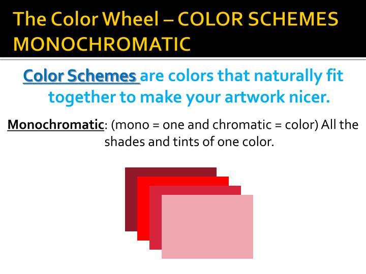 The Color Wheel – COLOR SCHEMES