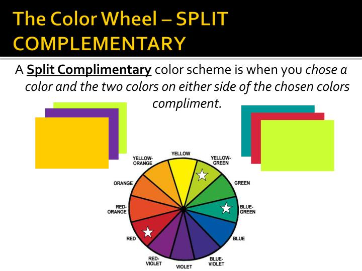 The Color Wheel – SPLIT COMPLEMENTARY