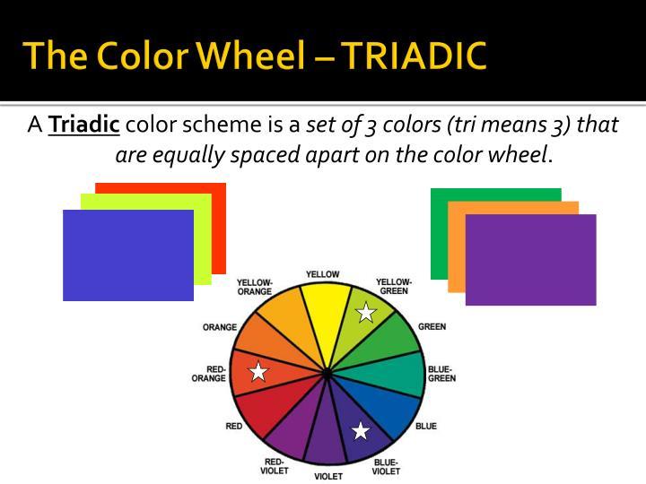 The Color Wheel – TRIADIC