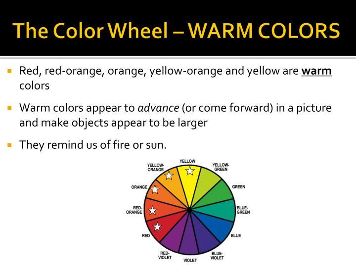 The Color Wheel – WARM COLORS