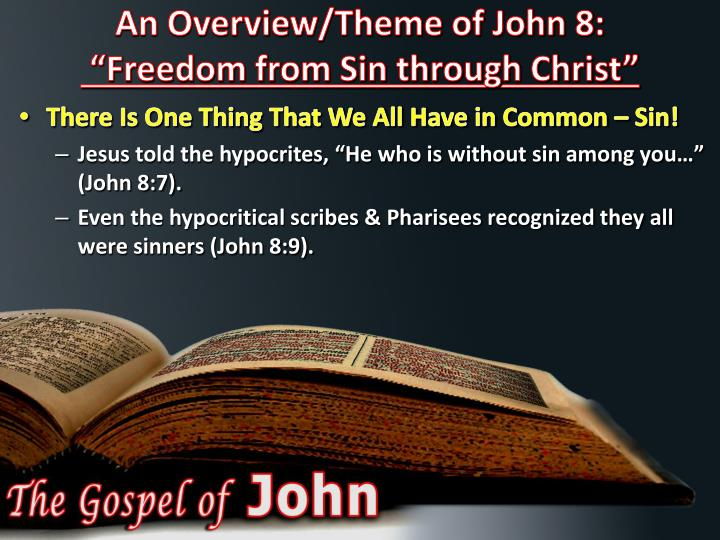 An Overview/Theme of John 8: