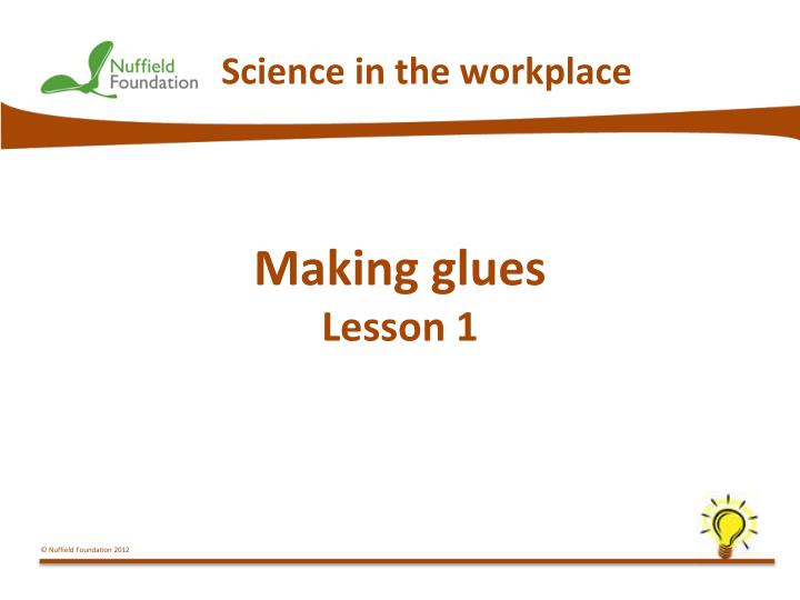 Science in the workplace