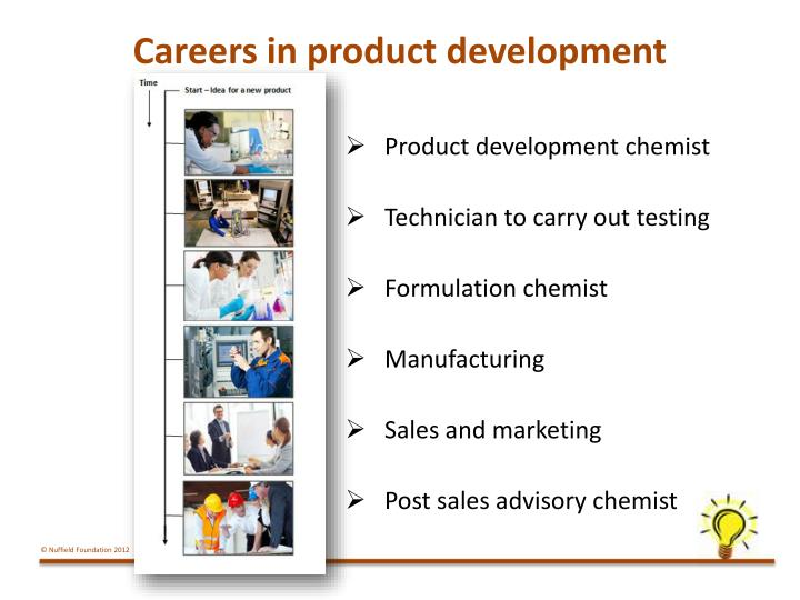 Careers in product development