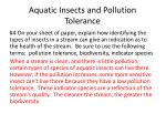 aquatic insects and pollution tolerance1