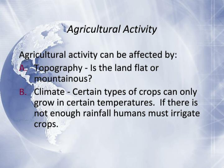 Agricultural Activity