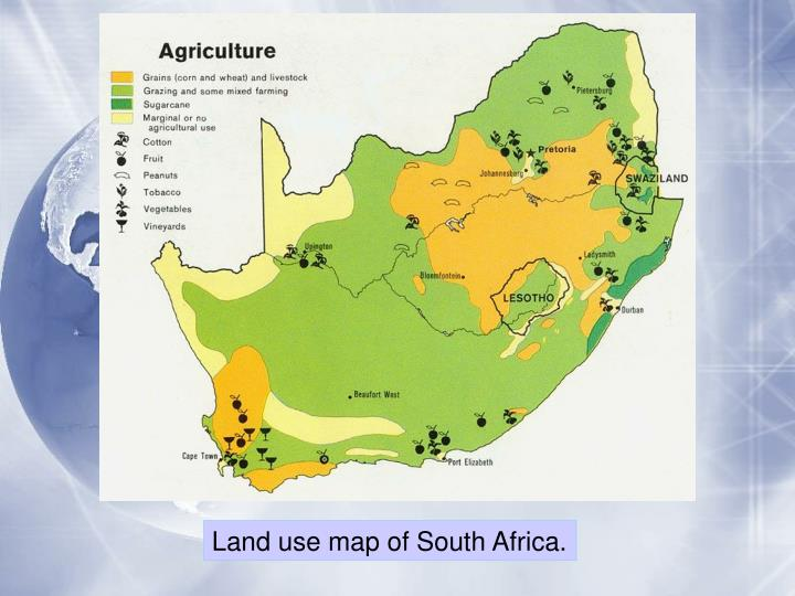 Land use map of South Africa.