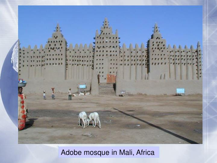 Adobe mosque in Mali,