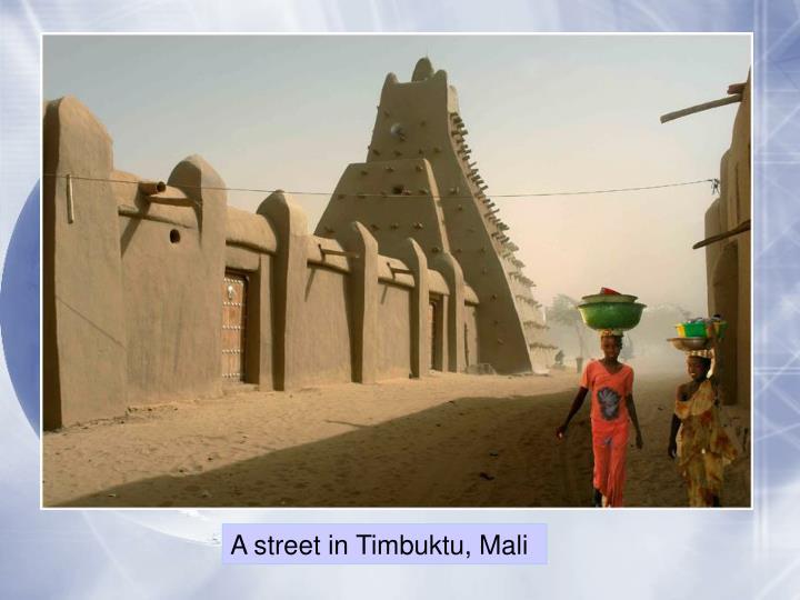 A street in Timbuktu,