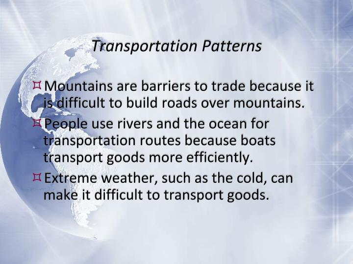 Transportation Patterns