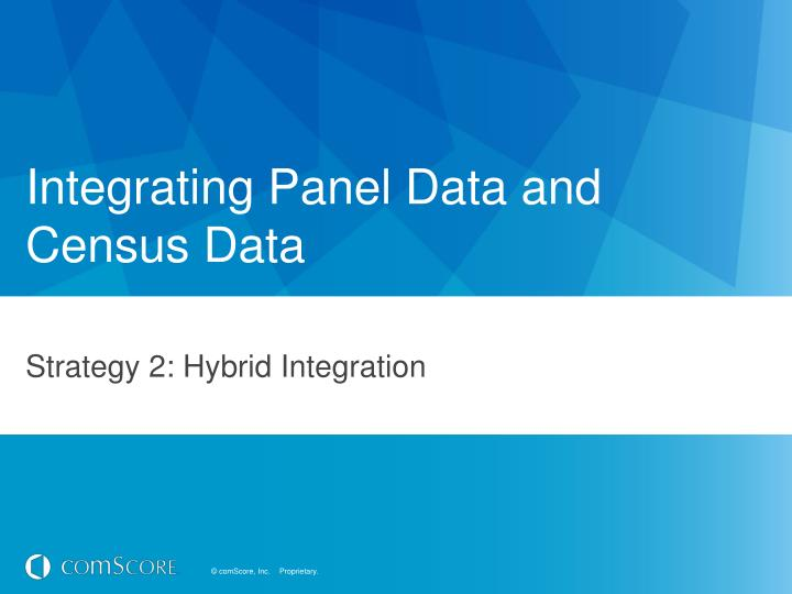 Integrating Panel Data and Census Data