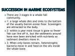 succession in marine ecosystems