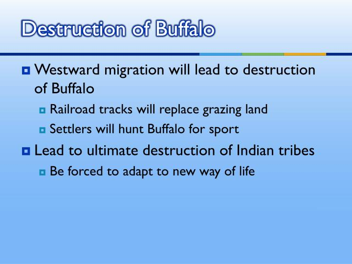 Destruction of Buffalo