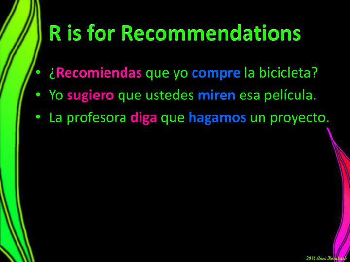 R is for Recommendations