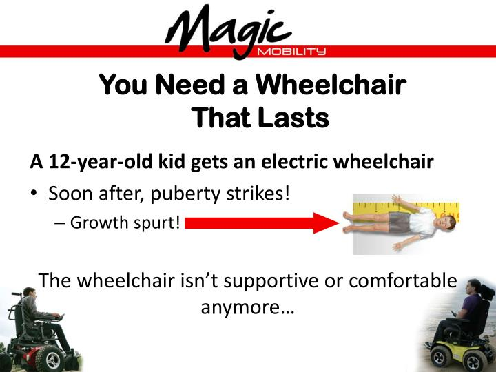 You Need a Wheelchair