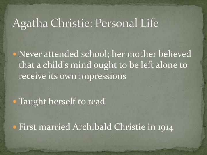 Agatha Christie: Personal Life