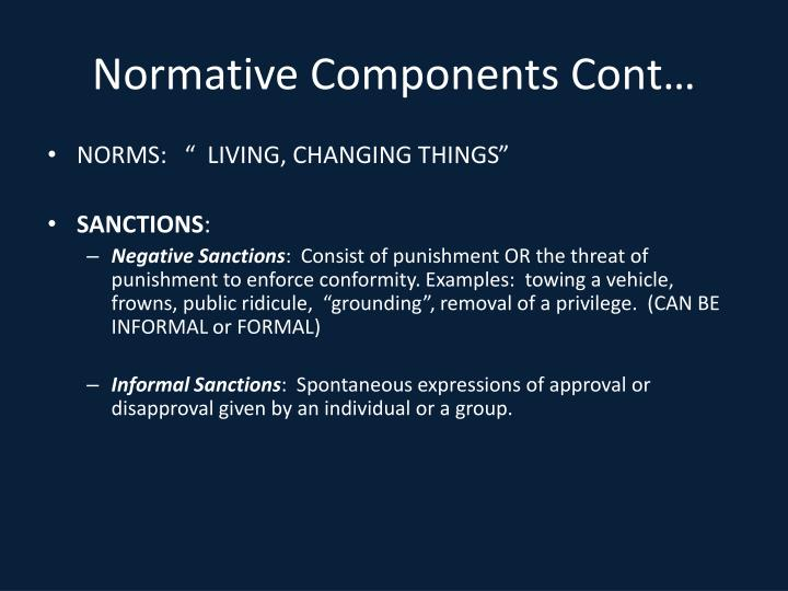 Normative Components Cont…