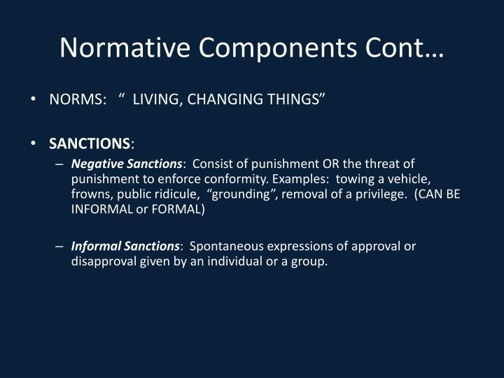 Normative Components Cont…