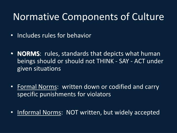 Normative Components of Culture