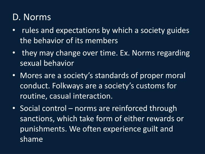 D. Norms