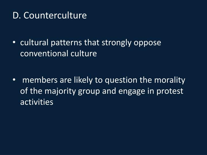 D. Counterculture