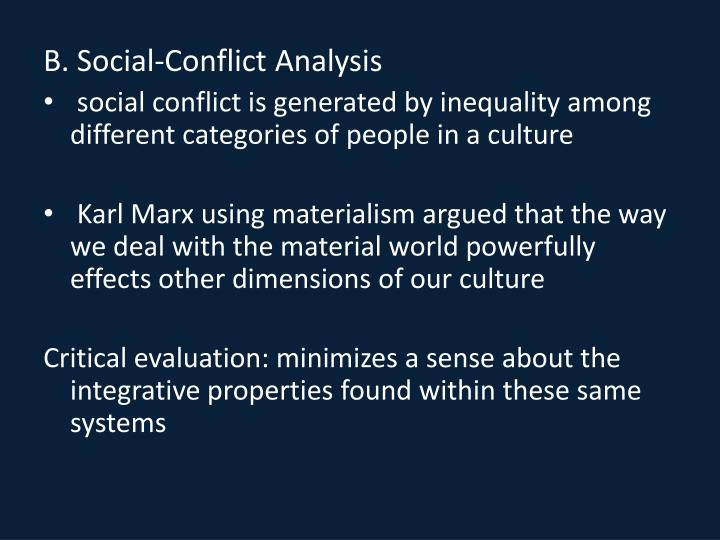 B. Social-Conflict Analysis