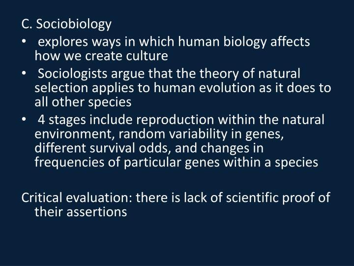 C. Sociobiology