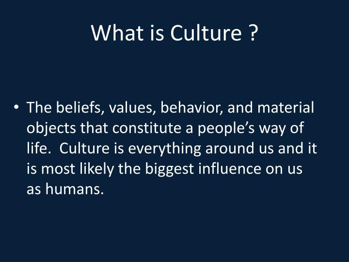 What is Culture ?