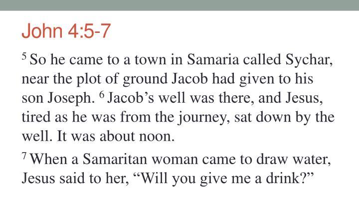 John 4:5-7
