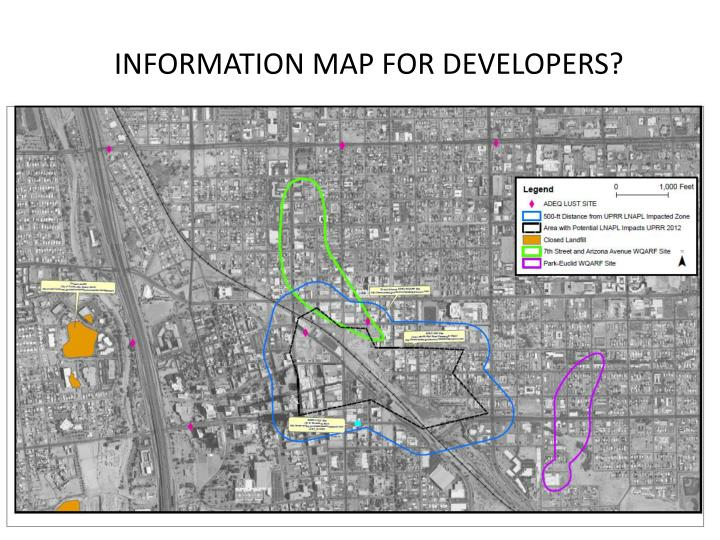 INFORMATION MAP FOR DEVELOPERS?