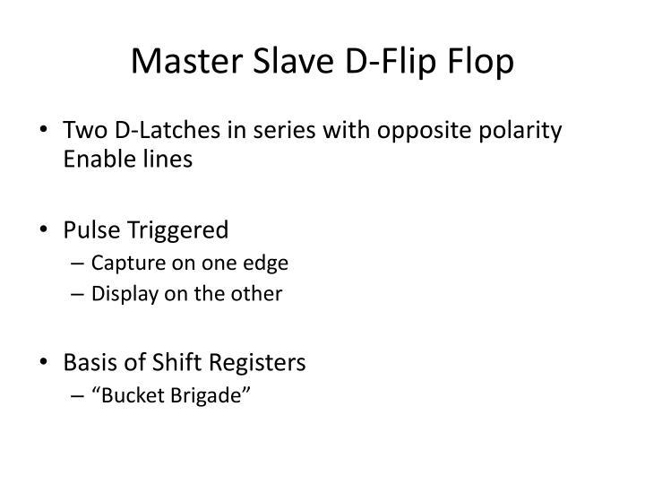 Master Slave D-Flip Flop
