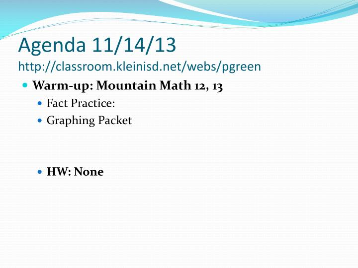 Agenda 11/14/13