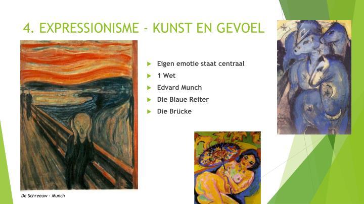 4. EXPRESSIONISME - KUNST EN GEVOEL