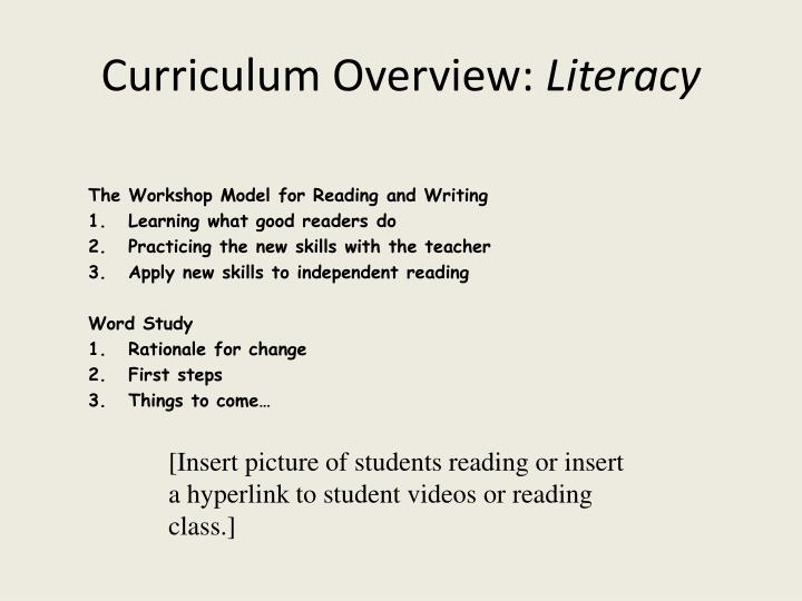 Curriculum Overview: