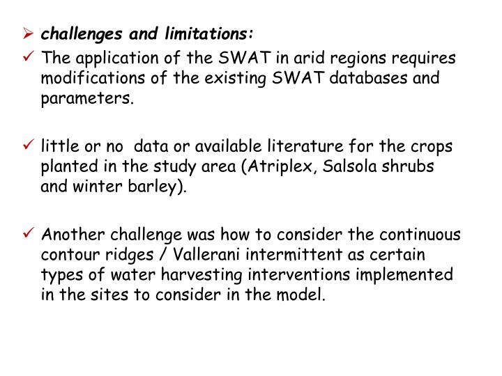 challenges and limitations: