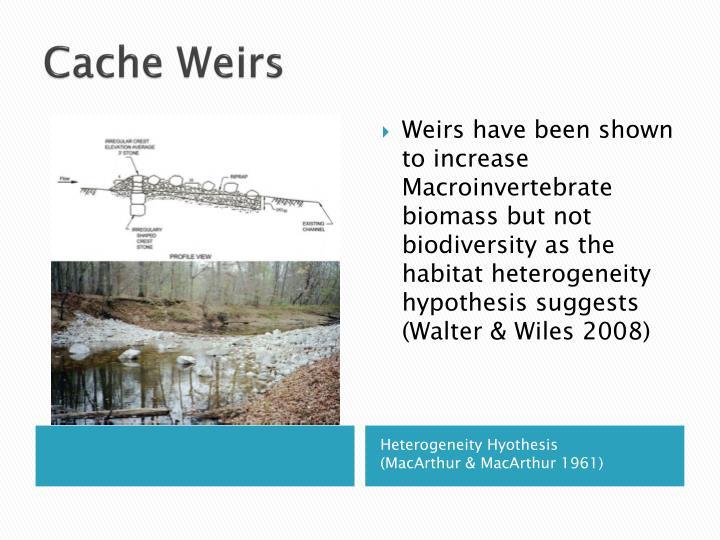 Cache Weirs
