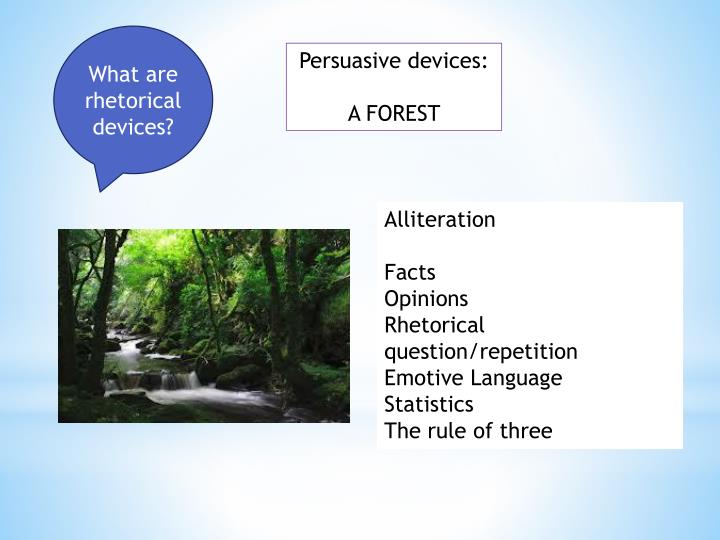 What are rhetorical devices?