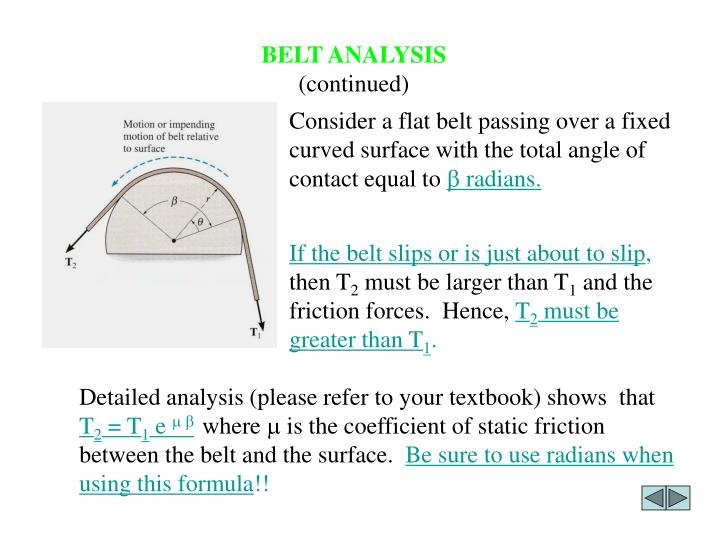 BELT ANALYSIS