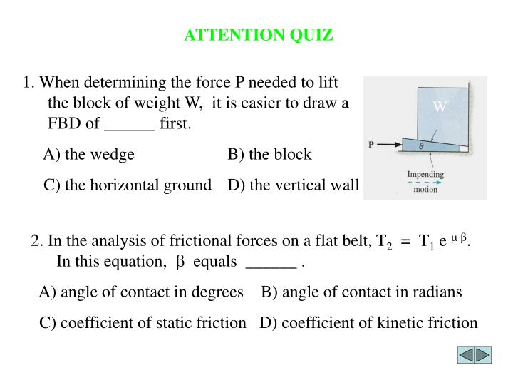 ATTENTION QUIZ