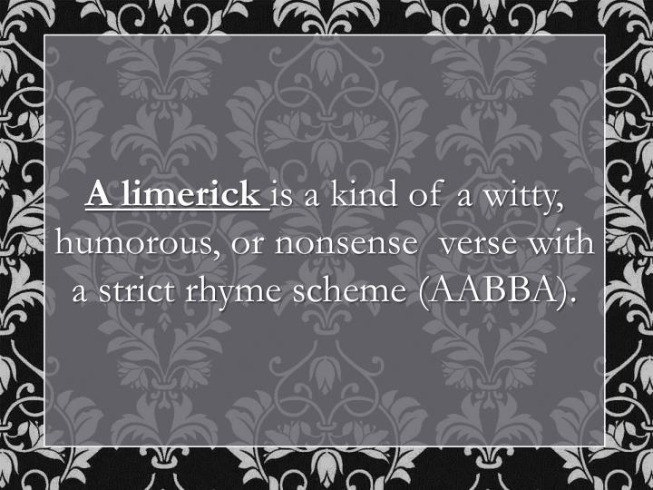 A limerick
