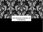the rhyme scheme of limericks