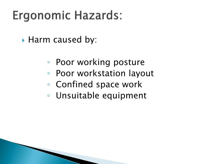 Ergonomic Hazards: