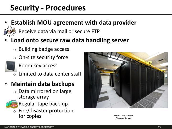 Security - Procedures