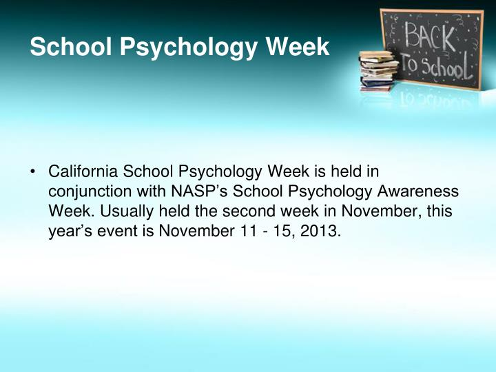 School psychology week1