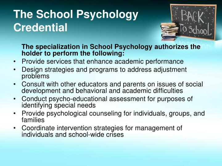 The School Psychology Credential