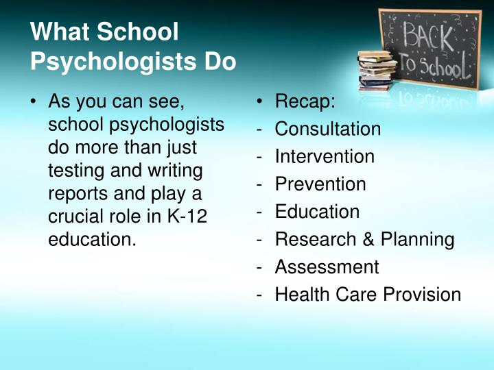 What School Psychologists Do