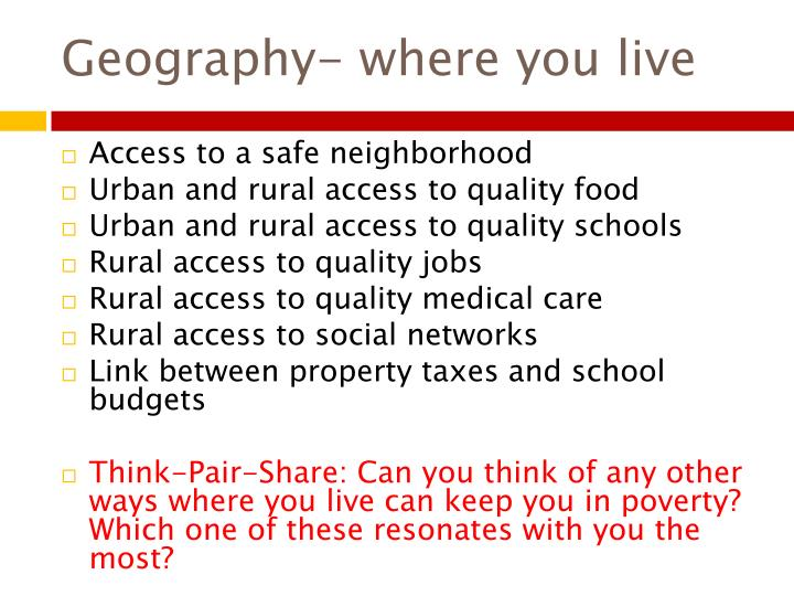 Geography- where you live