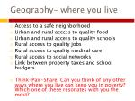 geography where you live