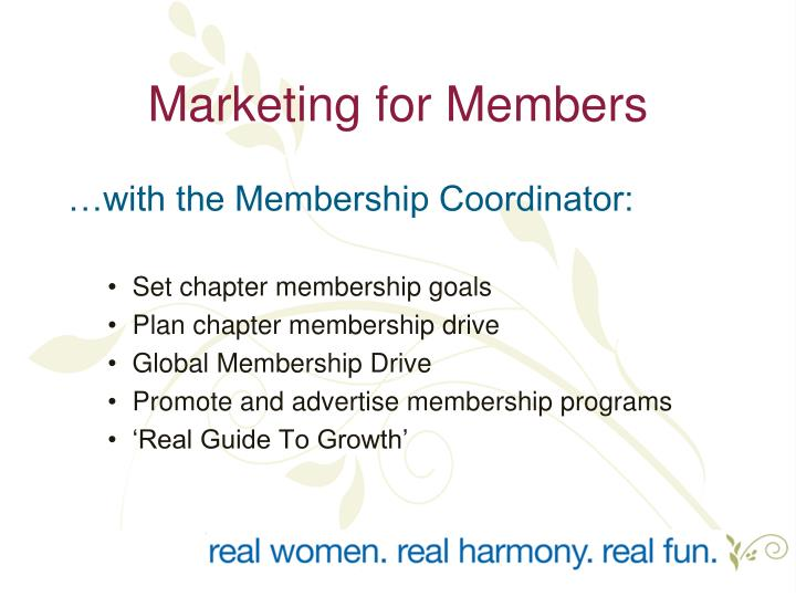 Marketing for Members