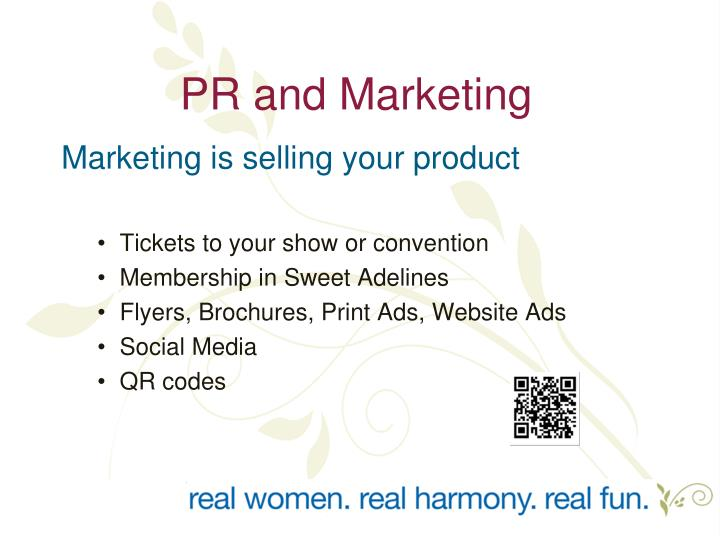 PR and Marketing